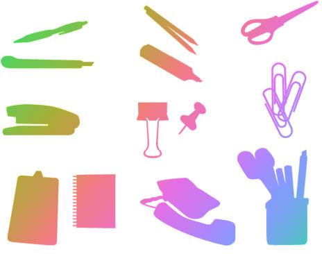 iconos-oficina-vectorial